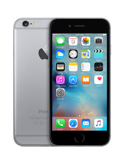 Unlocked Silver and Black 16gb iPhone 6