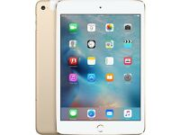 apple ipad mini 4 64gb cellular - gold