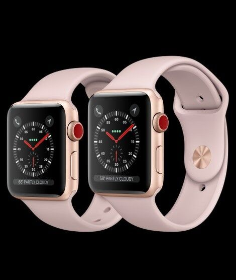 Apple Watch Series 3 Rose Gold Gps Cellular 38mm Size In Derby
