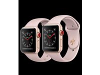 Apple watch series 3 rose gold gps + cellular 38mm size