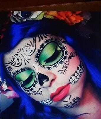 Day of the Dead Sugar Skull Costume Temporary Halloween Tattoos