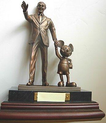 CAST Member BRONZE Statue ~ PARTNERS EXCELLENCE Award WALT DISNEY & MICKEY MOUSE