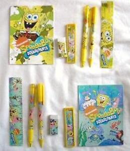 12-NICKELODEON-Spongebob-Squarepant-Stationery-Gift-Set-Child-School-Party-Favor