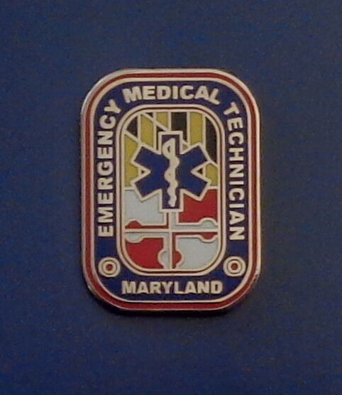 Maryland EMT Emergency Medical Technician Lapel/Uniform/Collar Pin MD EMS