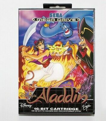 Sega Mega Drive Aladdin Game Cartridge with Box PAL, usado comprar usado  Enviando para Brazil