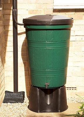 200L Cloudburst Garden Water Butt Kit w/ Child Safe Lid, Diverter, Tap & Stand
