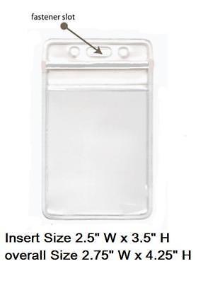 100 Clear Plastic ID BADGE HOLDERS VERTICAL/HORIZONTAL