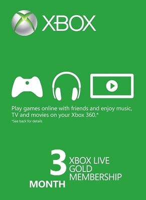Xbox Live Gold 3 Month Membership, US seller, Fast Physical Card Shipping! for sale  West Bloomfield