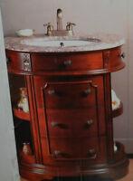 Vanité avec comptoir en marbre et lavabo en céramique NEUF