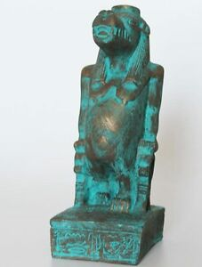 8-034-Egyptian-Artificial-Stone-Sculpture-of-Goddess-Taweret-Hand-Carved-813