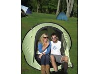 Small 2 man pop up dome tent