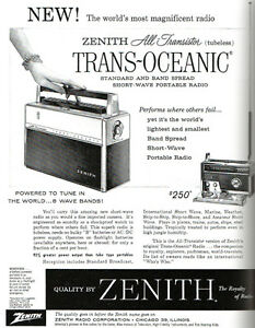 1958 Zenith Trans-Oceanic Royal 1000 Valve Radio Mount Lawley Stirling Area Preview