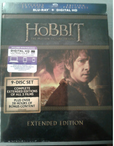 The Hobbit Trilogy Extended Edition Box Set on Blu-ray