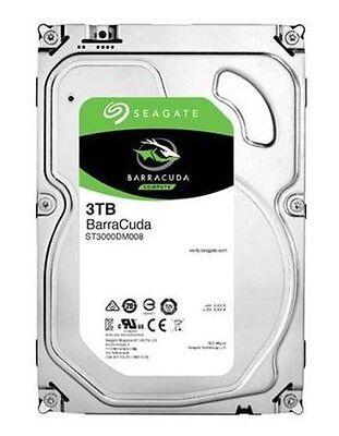 "Seagate BarraCuda 3TB SATA III 3.5"" Hard Drive - 7200RPMrpm, 64MB Cache"