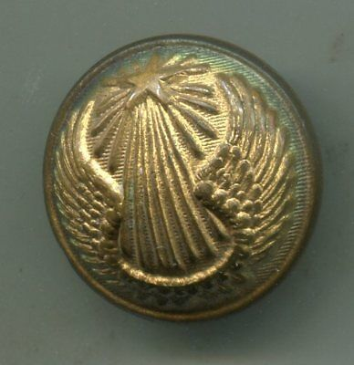 WWII Gold Round Brass Bronze Button French Military Army