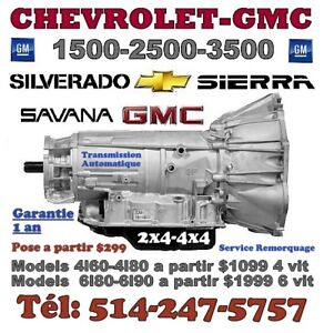 TRANSMISSIONS AVALANCHE-CHEVY-GMC + REFAIT GARANTIE 1 AN
