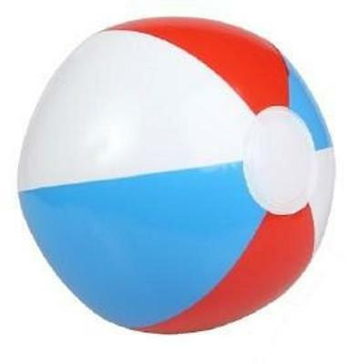 "(12) RED WHITE AND BLUE BEACH BALLS 16"" Pool Party Beachball NEW #AA12 Free Ship"