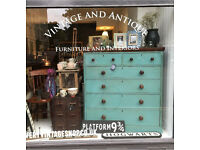 Large Victorian antique chest of drawers