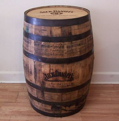 Jack Daniels Whiskey Barrel, Branded and Engraved -Man Cave Items- FREE SHIPPING