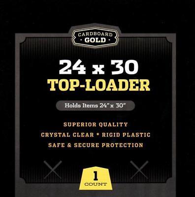 Lot / 10 CBG 24x30 Hard Plastic Topload Print / Poster Holders toploaders 24x30