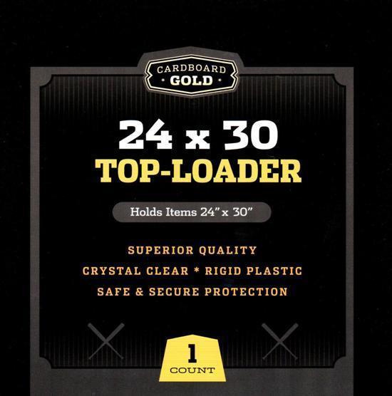 Lot / 5 CBG 24 x 30 Hard Plastic Topload Print / Poster Holders toploaders 24x30
