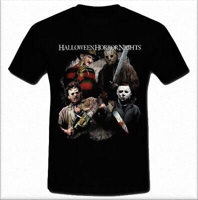 Halloween horror Nights  freddy vs jason Black T-shirt Tee Size S M L XL 2XL](Halloween Horror Nights Freddy Jason)