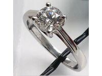 Diamond Solitaire Ring - 0.91 Carat