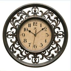 Traditional Elegant Sofia 12 Silent Sweep Non-Ticking Wall Clock Home Decor Art