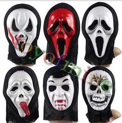 Crazy Halloween Masks (Crazy Face Mask Scared Ghost Scream For Halloween Carnival Costume Party)