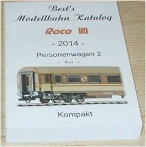 2014 Roco Sammler Katalog Modellbahn Personenwagen 2 (Welt) H0 wie neu Rarität