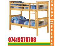 Brand New Single Wooden Bunk Frame Bed Available Order Now