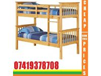 Single Wooden Bunk Frame available , Bedding
