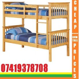 **BRAND NEW WOODEN BUNK SINGLE SMALL DOUBLE BEeED**