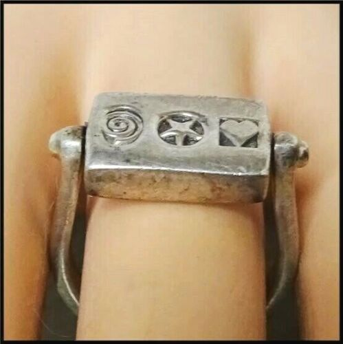 Ladies Vintage 925 Sterling Silver Engraveable Spinner Ring ~ Size 6.5  Signed