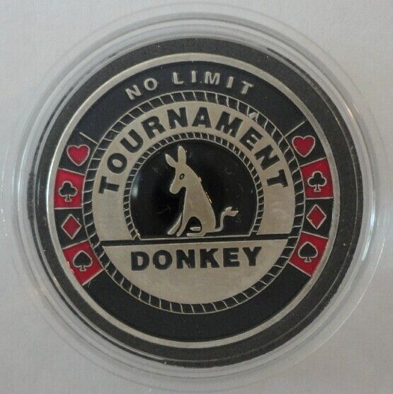 TOURNAMENT DONKEY silver color Card Guard Protector