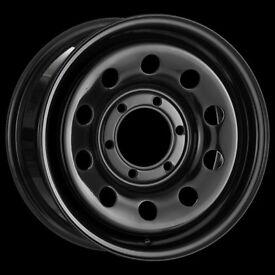 4 x 16x7 Tuff Torque Modular Wheel Black ET35