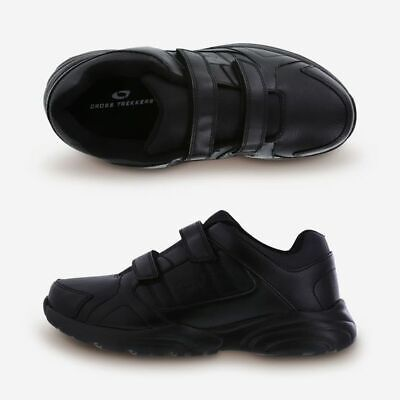Cross Trekkers - Cross Trekkers Double Strap Men's Black Walking Shoes Size  7-15 Wide Width