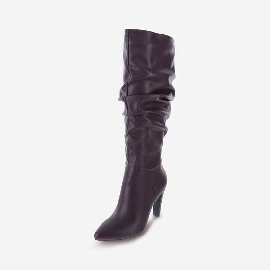 "CHRISTIAN SIRIANO Black Violet MAERYS TALL SLOUCH BOOT Heel 3 3/4"" SZ 13  NEW"