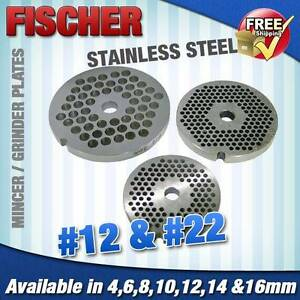 MEAT MINCER #12 PLATE - VARIOUS HOLE SIZE - FISCHER Sumner Brisbane South West Preview