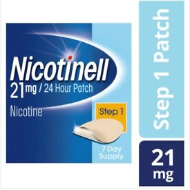 Nicotinell Step 1- 7 Patches (21 mg) 3x boxes of 7 patches available