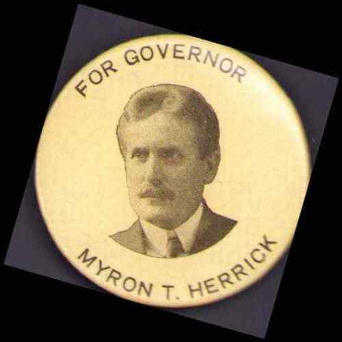 "1903 Myron T. Herrick for Governor Ohio 1½"" Campaign Button"