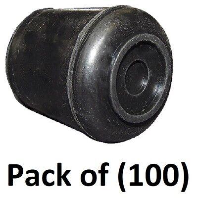 100 F31929sb 58 Gripping Black Rubber Non Skid Push On Chair Leg Tips