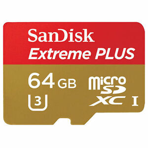 SanDisk Extreme Plus 64 GB microSDXC Card