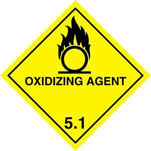 oxidizing agent 1 5 warning sign magnetic signs h s 100mm. Black Bedroom Furniture Sets. Home Design Ideas