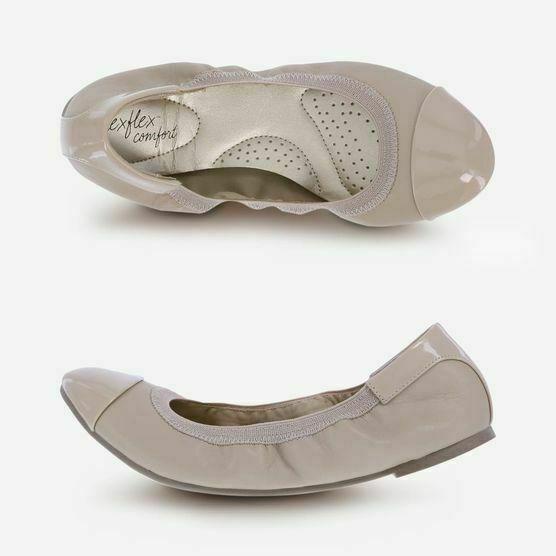 Dexflex Comfort Women/'s Caroline Claire Ballet Flat Shoes Black Beige Brown Pink