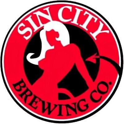 Sin City Brewing Company Sticker Devil craft Beer Brewery Las Vegas Nevada NV