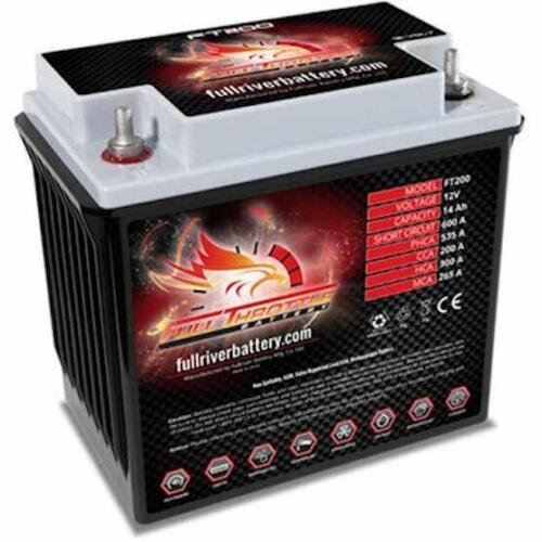 Full Throttle FT200 AGM Power Cell Car Audio Battery Full River FT 200
