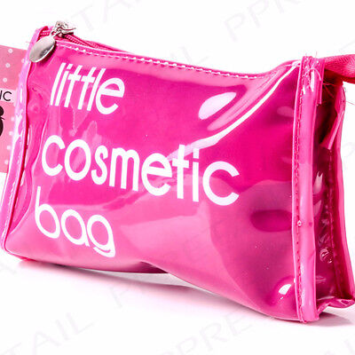 Pink Make Up Case LITTLE COSMETIC BAG Holiday/Travel Vanity Makeup Zip Up Pouch