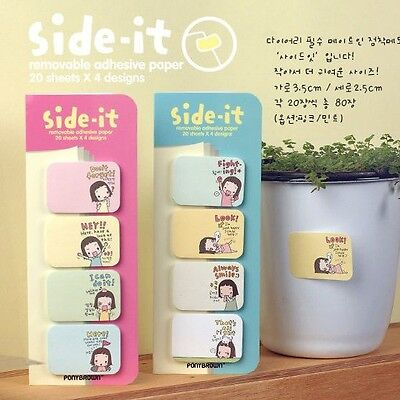 Cute Notepad Memo Sticky Removable 4 In 1 Paper Stationery Adhesive Pads Notes