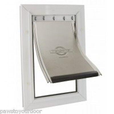 Staywell Petsafe 640 Large Dog Door 2 way Aluminium White Cat Flap 640ML Pet